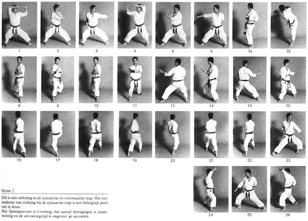 Shotokan karate kata heian nidan
